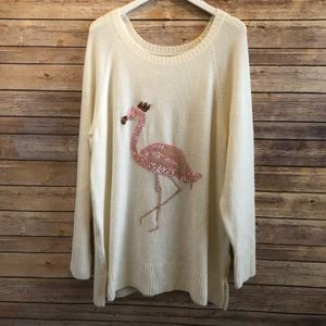 Lauren Conrad Flamingo Tunic Sweater